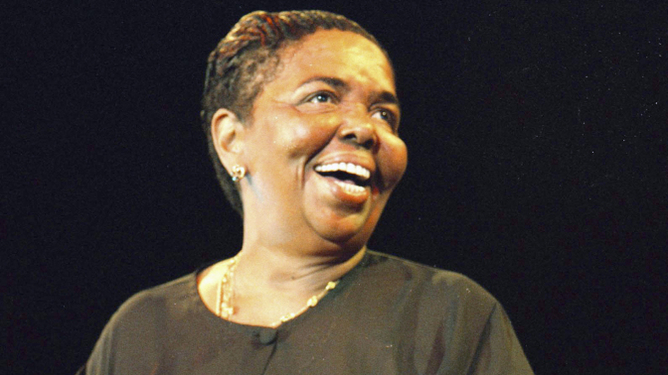 Cesária Évora performing in Amsterdam in 2000. (Redferns)