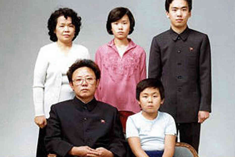 1981: North Korean leader Kim Jong Il (bottom left) poses with his first-born son, Kim Jong Nam (bottom right), in this family photo in Pyongyang, North Korea.