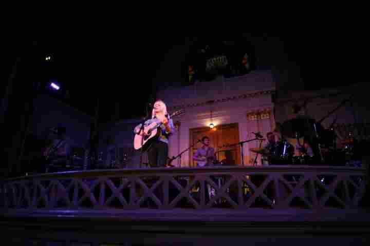 Laura Marling performs at Sixth & I Synagogue in Washington, D.C., on Sept. 27.