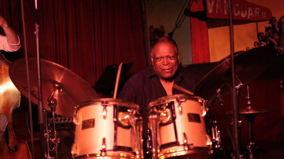 Billy Hart during his Village Vanguard set.