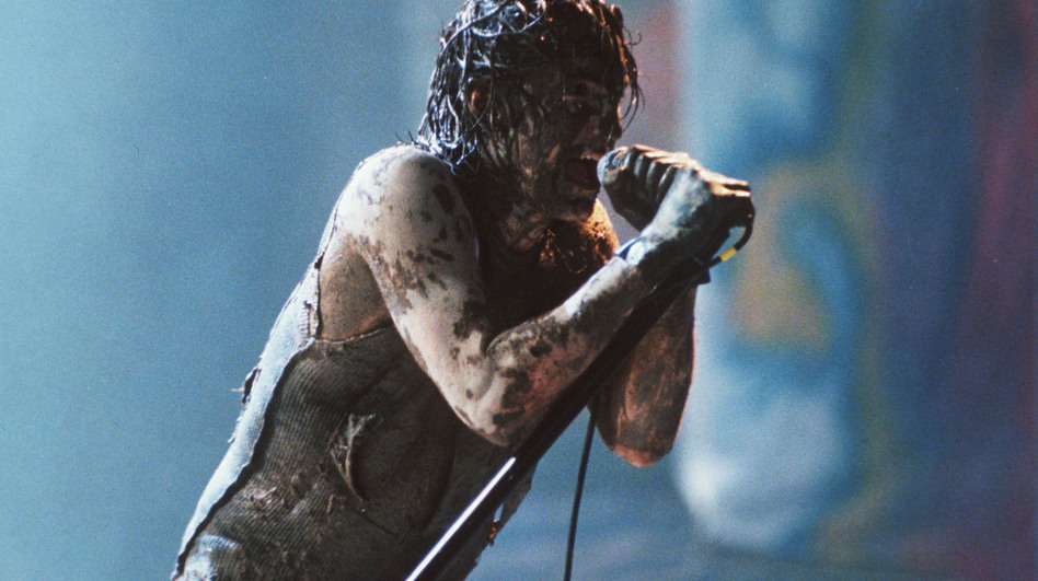 Trent Reznor performs with Nine Inch Nails at Woodstock '94.  (AP Photo)