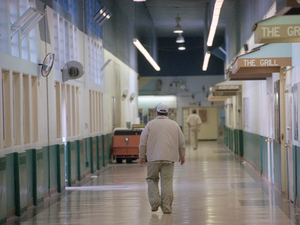 "In California, prison inmates who have committed serious crimes and have been diagnosed with a major mental illness can be forced to serve their parole in a state hospital. At Atascadero State Hospital, shown above in this 1999 photo, there are more than 600 such patients. ""As a group,"" says the hospital's director, ""the mentally disordered offenders are the most aggressive."""