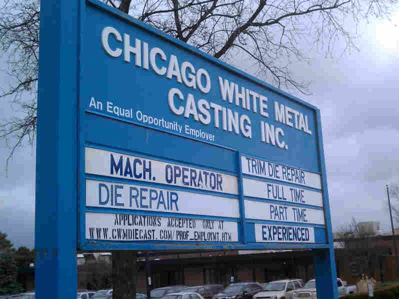 Midwestern manufacturers are bouncing back — revenues are up at Chicago White Metal Casting for the second year in a row. And the company is hiring, but mainly specialists, such as die-cast machinists and the people with the skills to fix those machines.