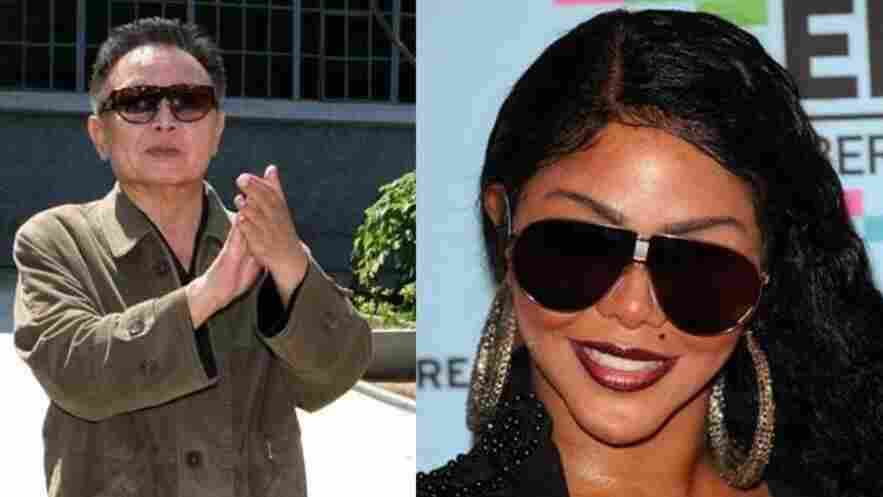 In case anyone's confused. Kim Jong Il is at left. And Lil' Kim is still with us.