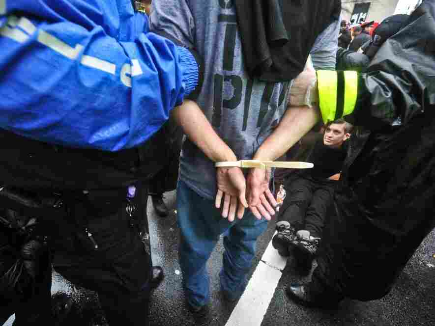 The arrest of an Occupy DC protester earlier this month in Washington — one type of arrest that would show up in the researchers' numbers.