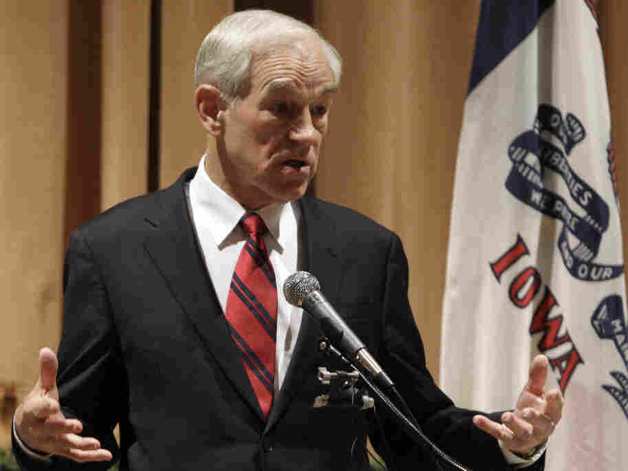Rep. Ron Paul at a town hall in Marshalltown, Iowa, Dec. 10, 2011.