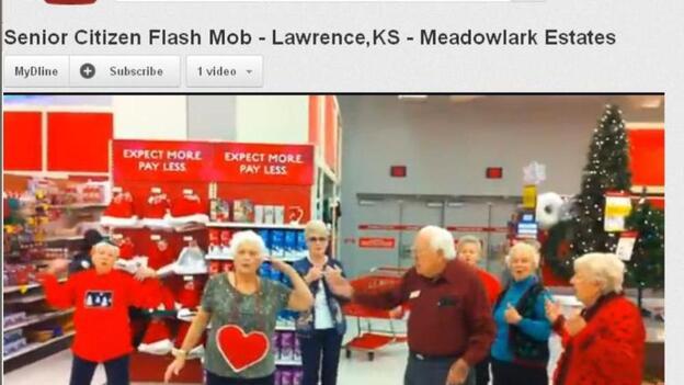 The senior citizens flash mob in Kansas. (YouTube)
