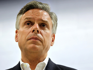 GOP hopeful Jon Huntsman speaks in Milford, N.H., on Dec. 8.