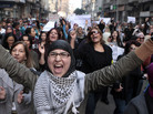 Hundreds of Egyptian women march at Cairo streets, angered by the recent violence used against them in clashes with police.