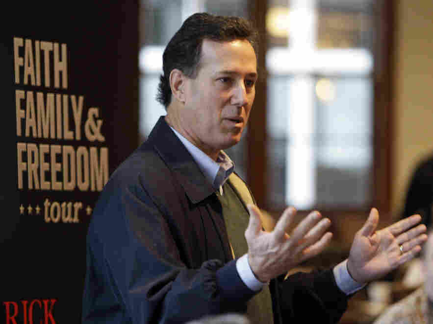 Rick Santorum in Pella, Iowa, Tuesday, Dec. 20, 2011.