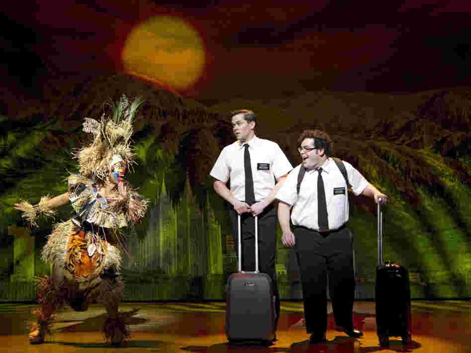 Rema Webb, Andrew Rannells and Josh Gad star in The Book of Mormon, a musical created by South Park's Trey Parker and Matt Stone.