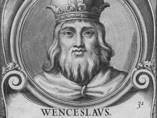 Circa 1300, King Wenceslas II of Bohemia.