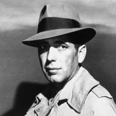 Actor Humphrey Bogart is shown in a Warner Bros. publicity photo from about 1941.