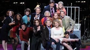 The cast of Company includes Christina Hendricks, Martha Plimpton, Patti LuPone, Neil Patrick Harris, Jon Cryer, Craig Bierko and Stephen Colbert.