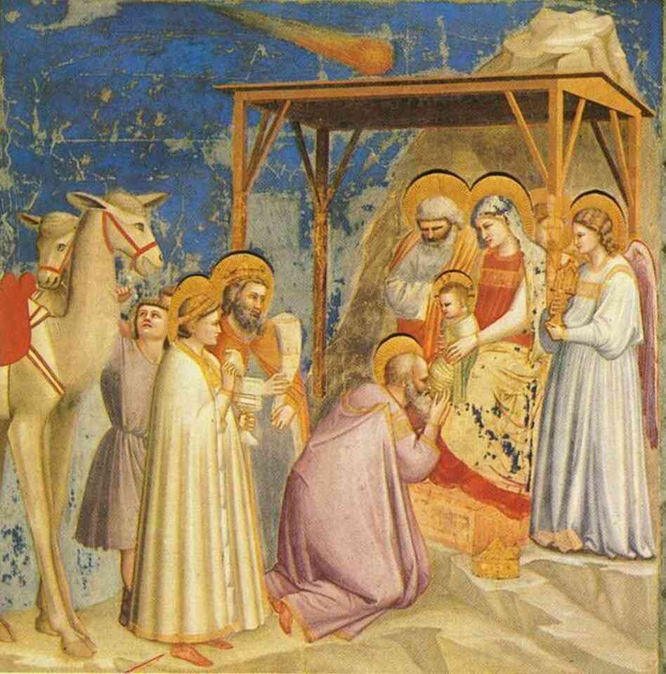 Adoration of the Magi by Giotto di Bondone