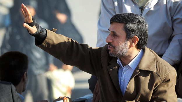 Iranian President Mahmoud Ahmadinejad regularly defends his country's nuclear program despite international criticism. The president is shown here on a visit to Varamin, south of Tehran, on Wednesday.  (AFP/Getty Images)