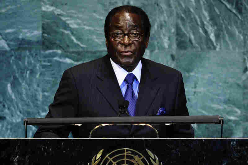 Despite all the dictators who have fallen this year, some have stayed in power. Zimbabwe's President Robert Mugabe has ruled since the country gained independence in 1980. In this photo, he addresses the United Nations in New York on Sept. 24, 2010.