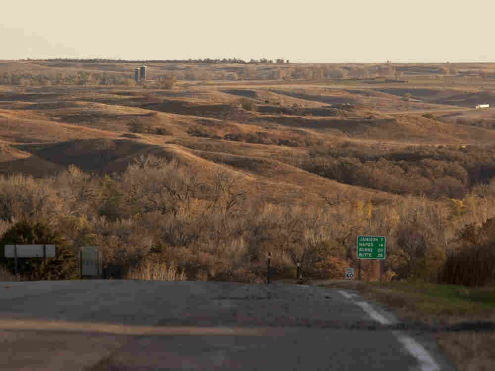The sandhills near Mills in north central Nebraska, through which Transcanada's Keystone XL pipeline has been slated to be built. The pipeline is planned to carry crude oil from tar sands in Alberta to the Gulf Coast.