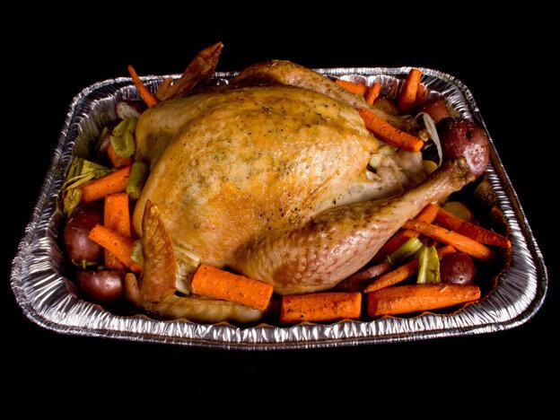 Beware of throw-away aluminum roasting pans, burn do