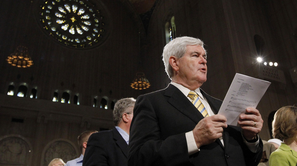 Whether or not Newt Gingrich's style and character have changed, his conversion from Southern Baptist to Catholic is playing well with some evangelicals.