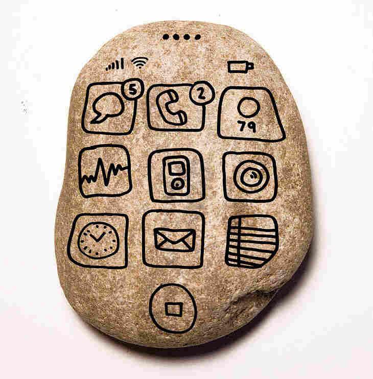 A caveman phone.