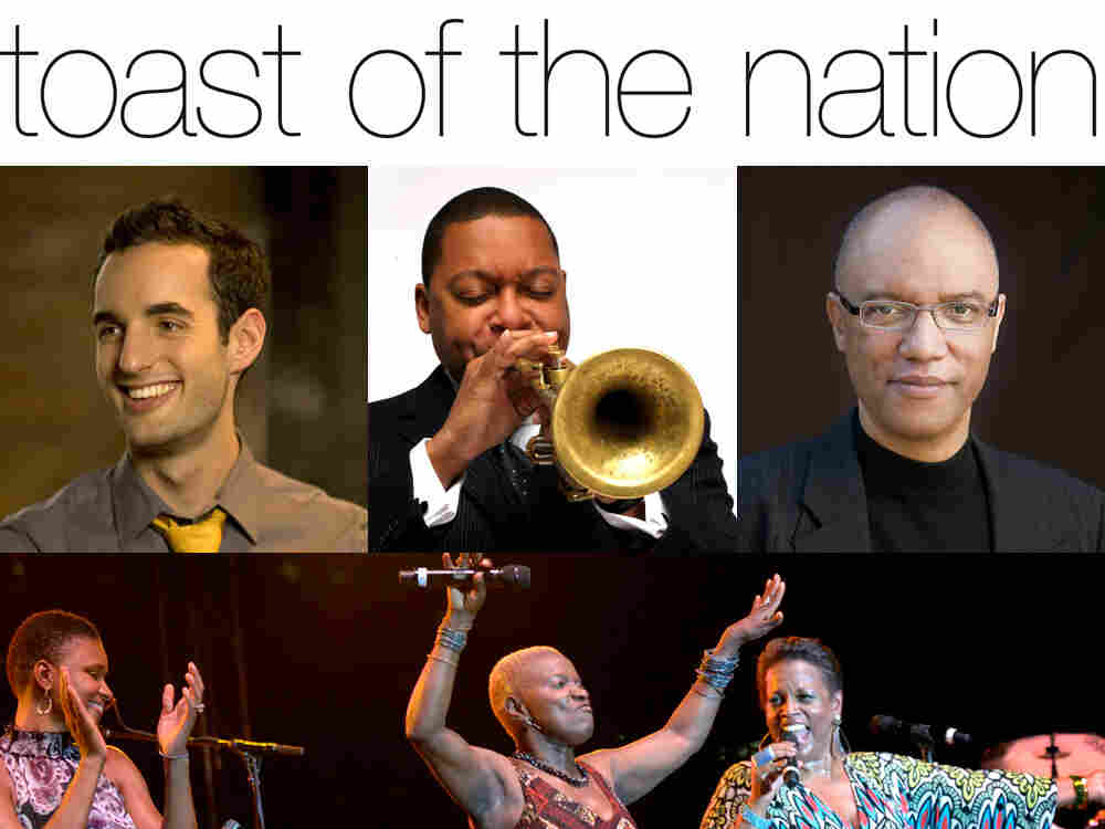 Left to right, top to bottom: Julian Lage, Wynton Marsalis, Billy Childs, Lizz Wright, Angelique Kidjo and Dianne Reeves. (Photo for Wright/Kidjo/Reeves by Jeff Forman.)