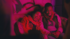 """Seventeen-year-old Alike (Adepero Oduye, right) finds a friend in Bina (Aasha Davis) in Pariah. Director Dee Rees says, """"Alike, the main character, knows she loves women — that's not her struggle. Her struggle's more how to be in the world."""""""