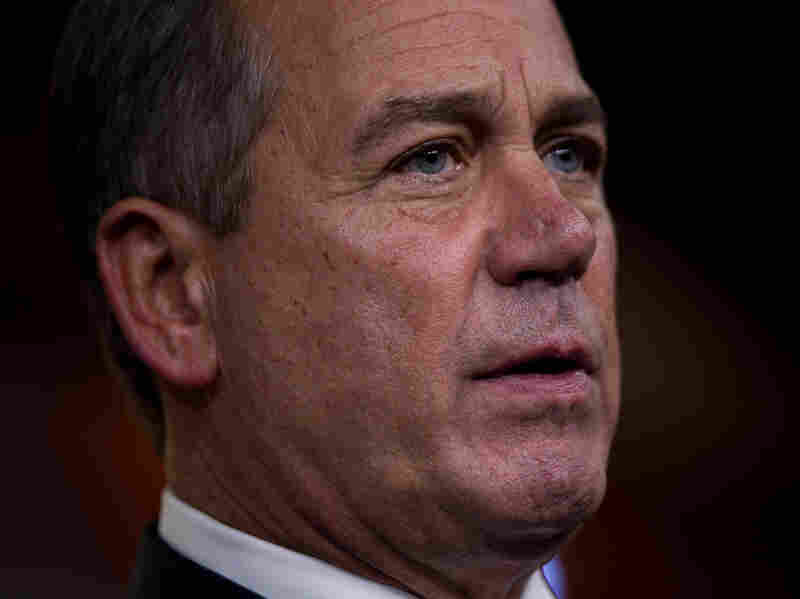 Speaker of the House Rep. John Boehner, R-Ohio, pauses during a news conference to announce an agreement on a two-month extension to the payroll tax cut on Capitol Hill on Thursday, Dec. 22, 2011.