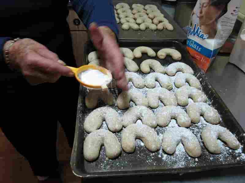 Dora Schmidt prepares a batch of Cuernito butter walnut cookies.