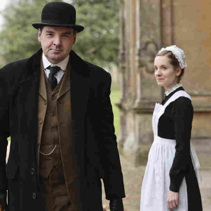 Brendan Coyle is John Bates and Joanne Froggatt is Anna Smith in Downton Abbey, which returns January 8 to PBS.