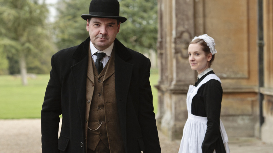 Brendan Coyle is John Bates and Joanne Froggatt is Anna Smith in <em>Downton Abbey</em>, which returns January 8 to PBS.