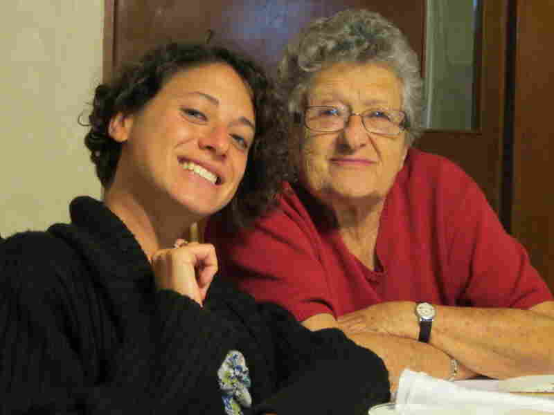 Dora Schmidt (right) was born in Poland and moved to Mexico City at age 3. She now has 16 grandchildren, including Alex (left).