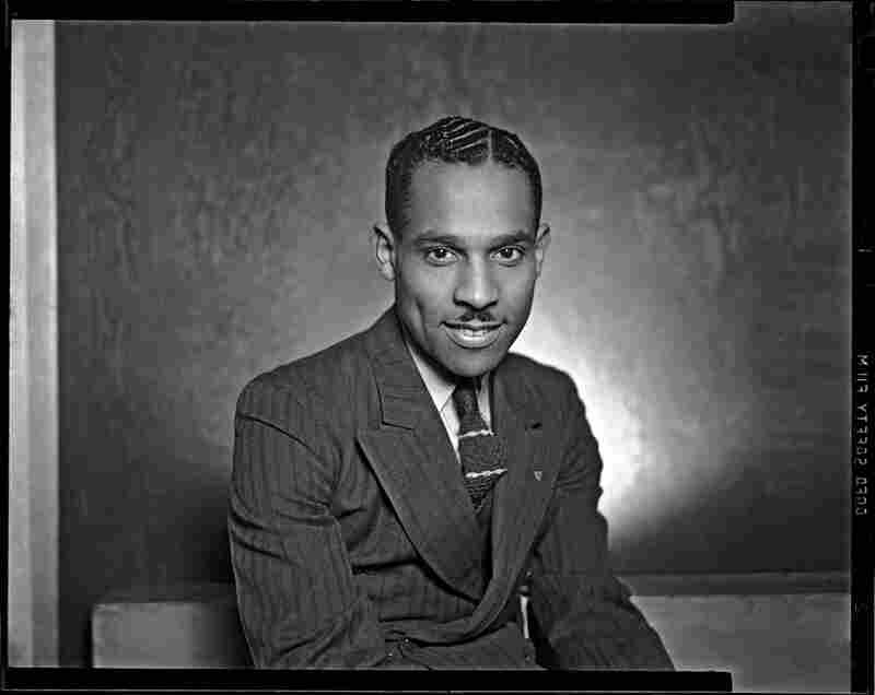"Self-portrait of Charles ""Teenie"" Harris in Harris Studio, circa 1940."