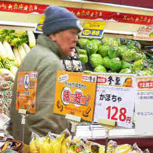 Japanese shoppers remain concerned about radiation levels in food following the country's nuclear accident in March. Shoppers are shown here in a Tokyo supermarket.