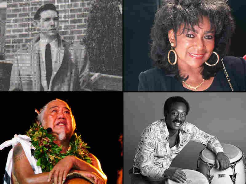 Clockwise from top: Harold Russell, Sylvia Robinson, Charles Ka'upu, Ralph McDonald