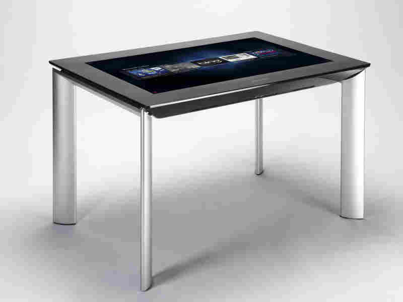 Samsung's SUR40 uses the second generation of Microsoft's Surface software — the first generation of which came out in 2007, the same year as the iPhone — to create an interactive tabletop.