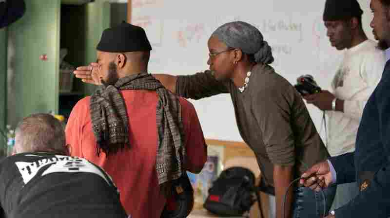 Director Dee Rees on the set of her film, Pariah.