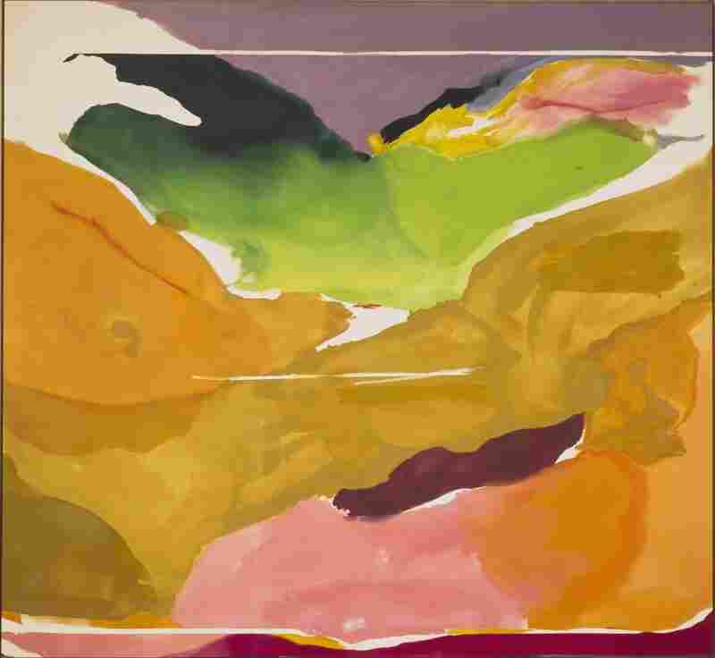 Frankenthaler's 1973 painting Nature Abhors a Vacuum.
