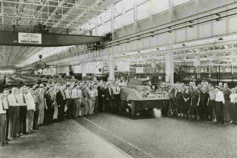 During World War II, the plant shifted production to make tanks and armored cars for the Allied forces.