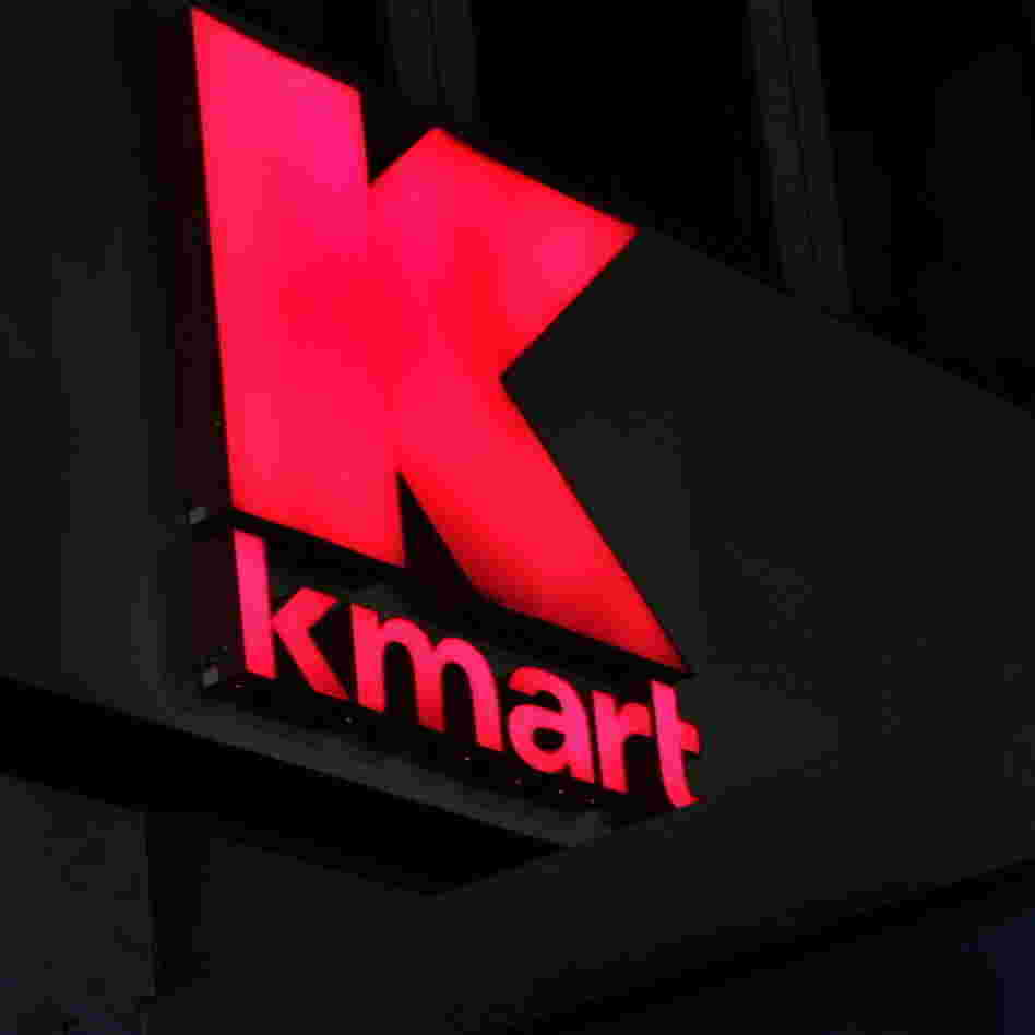 The sign outside a Kmart store, in New York City.