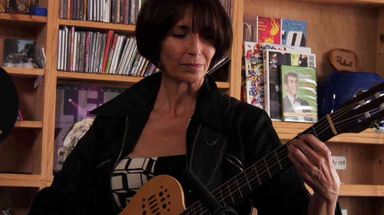 Maria Volonte performs a Tiny Desk Concert at the NPR Music offices.
