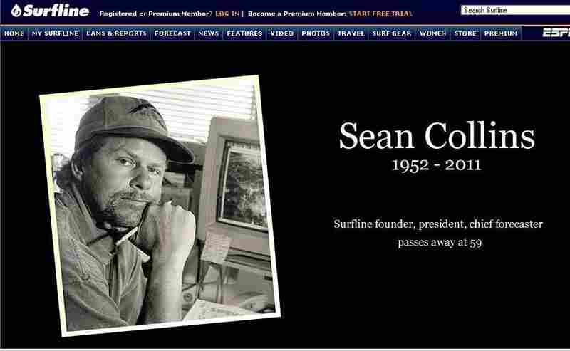 Surfline.com pays homage to Collins today.