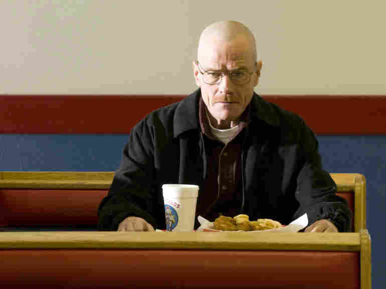 Bryan Cranston stars as Walter White, a high-school teacher turned meth dealer, in the AMC drama Breaking Bad.