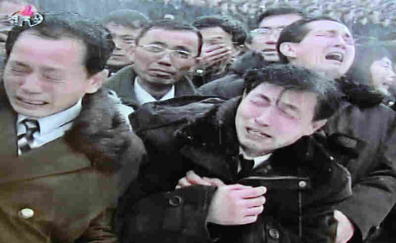 This still frame taken from North Korean TV shows North Koreans mourning during the funeral ceremony for the late leader Kim Jong Il in Pyongyang.