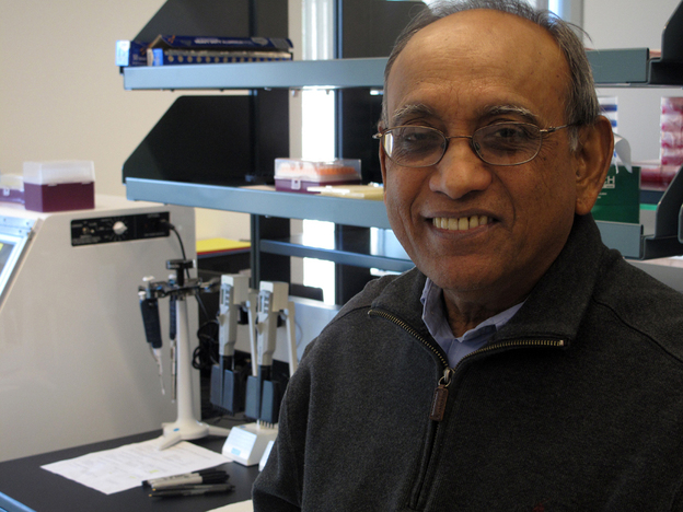 Sudhir Sinha's company, InnoGenomics, is one of hundreds of startups that call New Orleans home. (NPR)