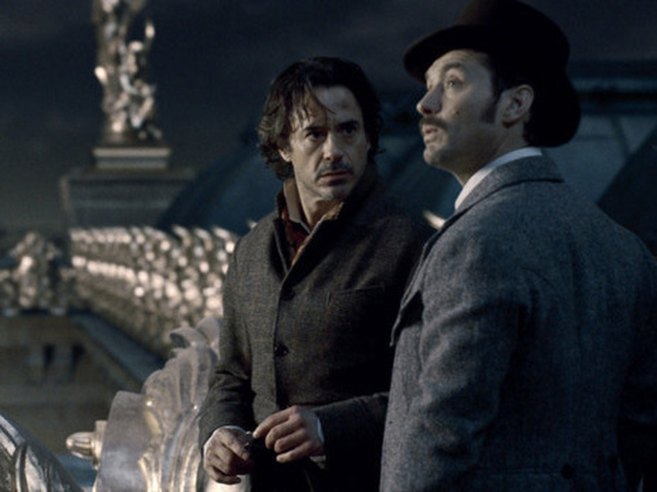 <strong></strong><strong></strong>Sherlock Holmes (Robert Downey Jr.) and Dr. Watson (Jude Law) in the second installment of Guy Ritchie's steampunk action-mystery franchise.