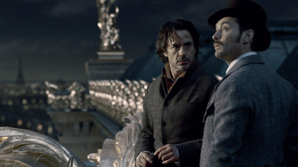 Sherlock Holmes (Robert Downey Jr.) and Dr. Watson (Jude Law) in the second installment of Guy Ritchie's steampunk action-mystery franchise. (Warner Bros.)