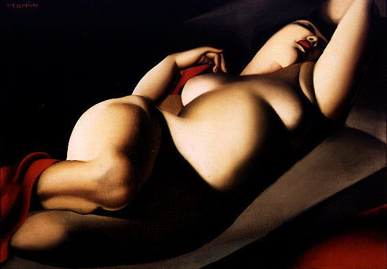 Tamara de Lempicka's La Belle Rafaela, painted in 1927, inspired Ellis Avery's novel The Last Nude. The art deco painter met Rafaela while on a walk in a Paris park. Rafaela became her model and her lover.