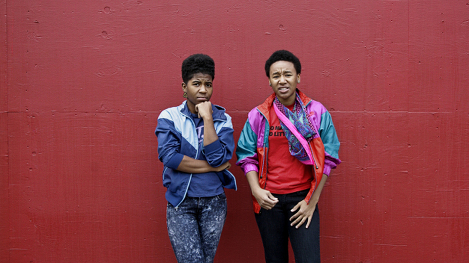 Catherine Harris-White (left) and Stasia Irons make up THEESatisfaction, a hip-hop duo that signed to Sub Pop this July. (Courtesy of Sub Pop Records.)