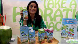 Vita Coco booth at a food show.
